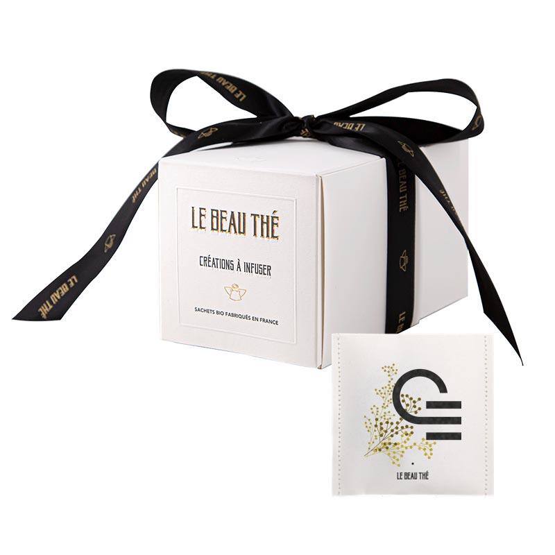Coffret de luxe de 20 sachets de thé publicitaires Le Beau Thé