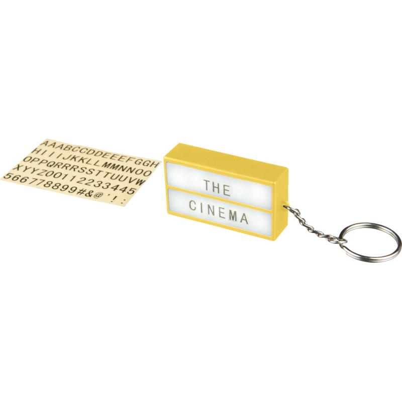 Porte-clés publicitaire lampe Cinéma - goodies