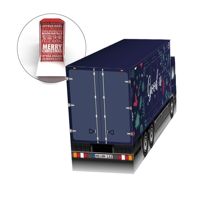 Calendrier de l'Avent publicitaire Camion avec Lindor