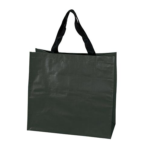 Sac Shopping personnalisé pp tisse Dora - cabas de course publicitaire noir