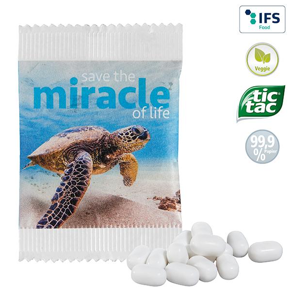 Tic Tac® à la menthe en sachet papier FSC personnalisable