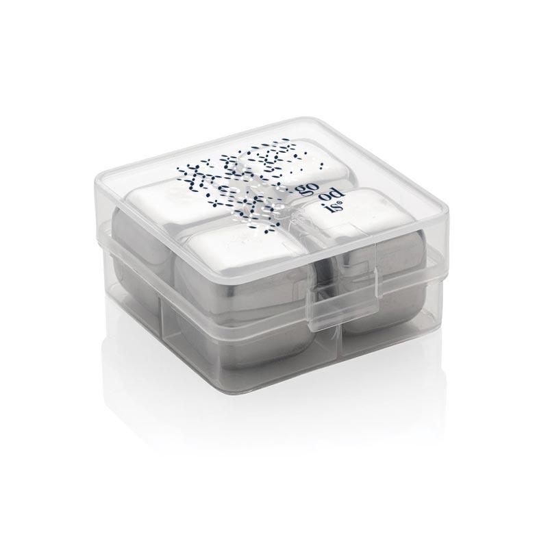 Glaçons publicitaires réutilisables dans boîte transparente