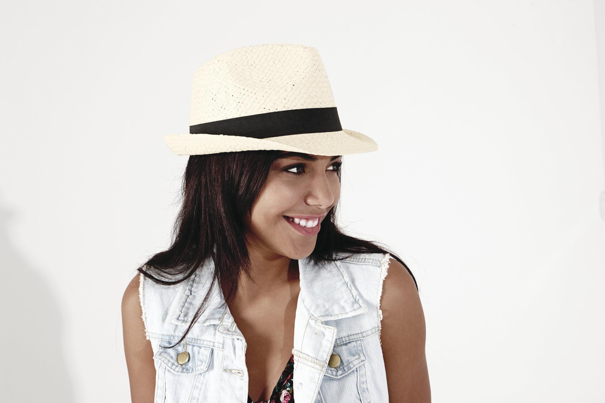 Chapeau publicitaire écologique Trilby - chapeau personnalisable