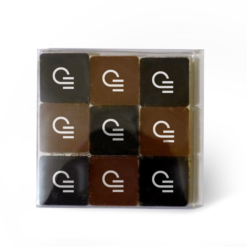 Carrés de chocolat à personnaliser - Idée de cadeau d'entreprise 1