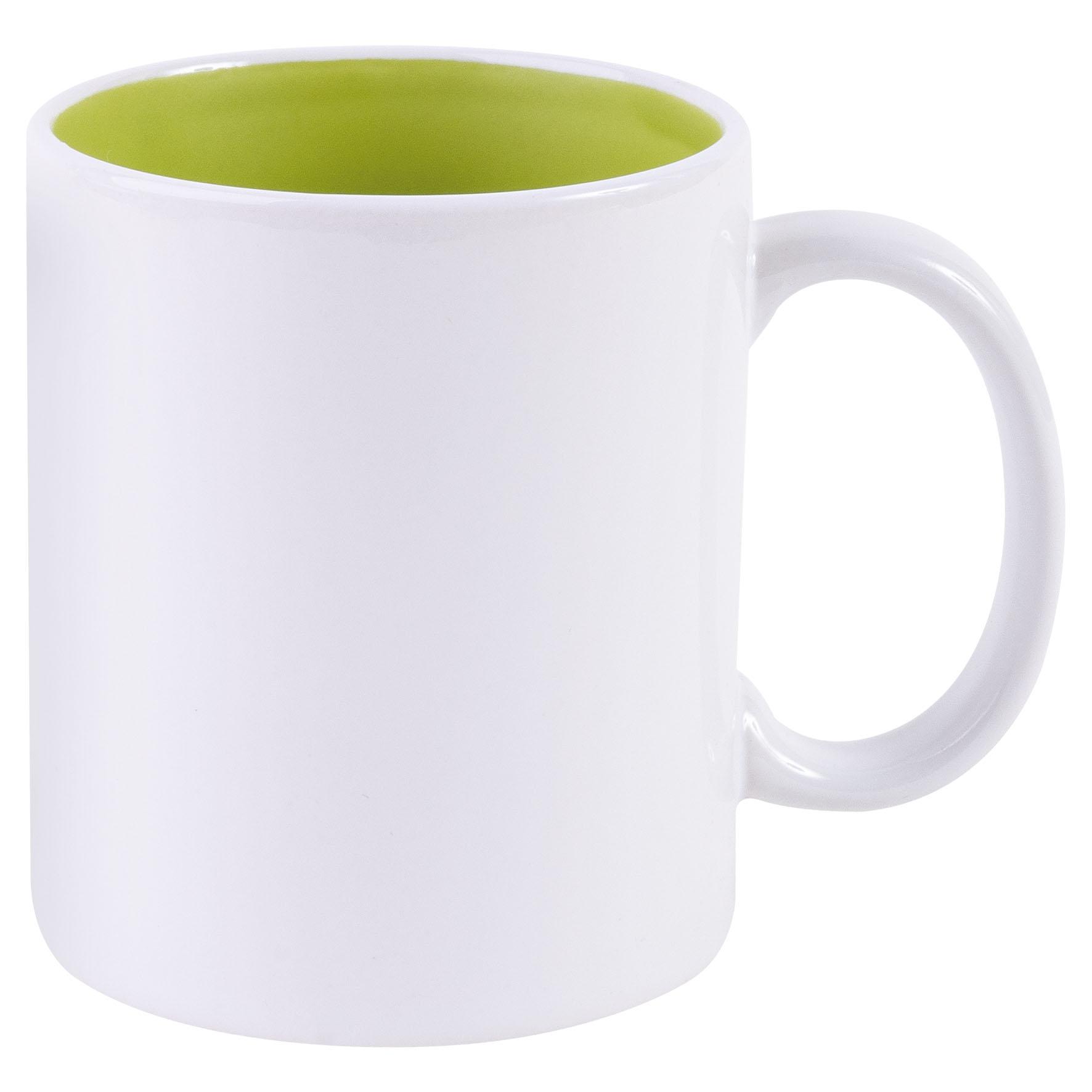 Mug publicitaire Bicolore pour sublimation 31 cl - mug personnalisable  - vert anis