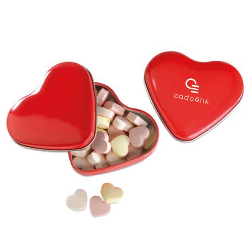 Goodies salons - Boîte coeur avec bonbons