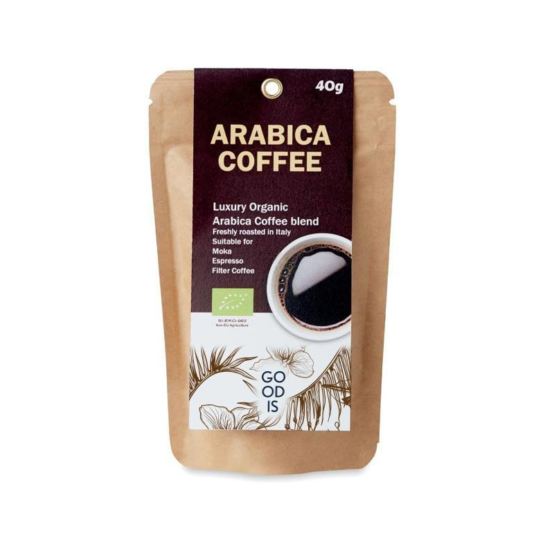 Café moulu biologique 40g Arabica à offrir