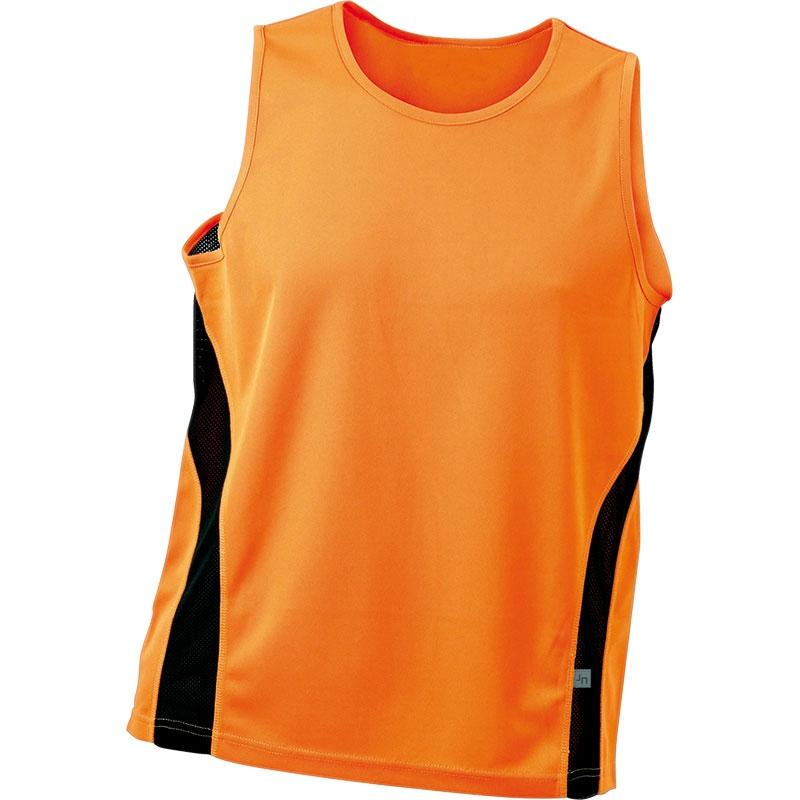 Tee-shirt publicitaire sans manches pour homme Running Topcool bleu ciel/blanc