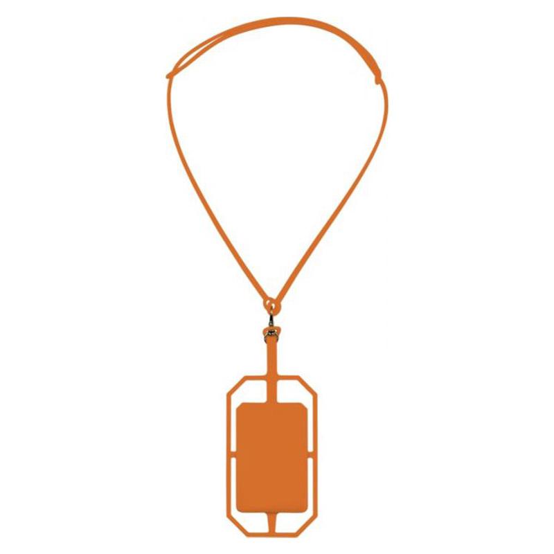 Tour de cou et porte-cartes publicitaires avec protection RFID Bloke en silicone