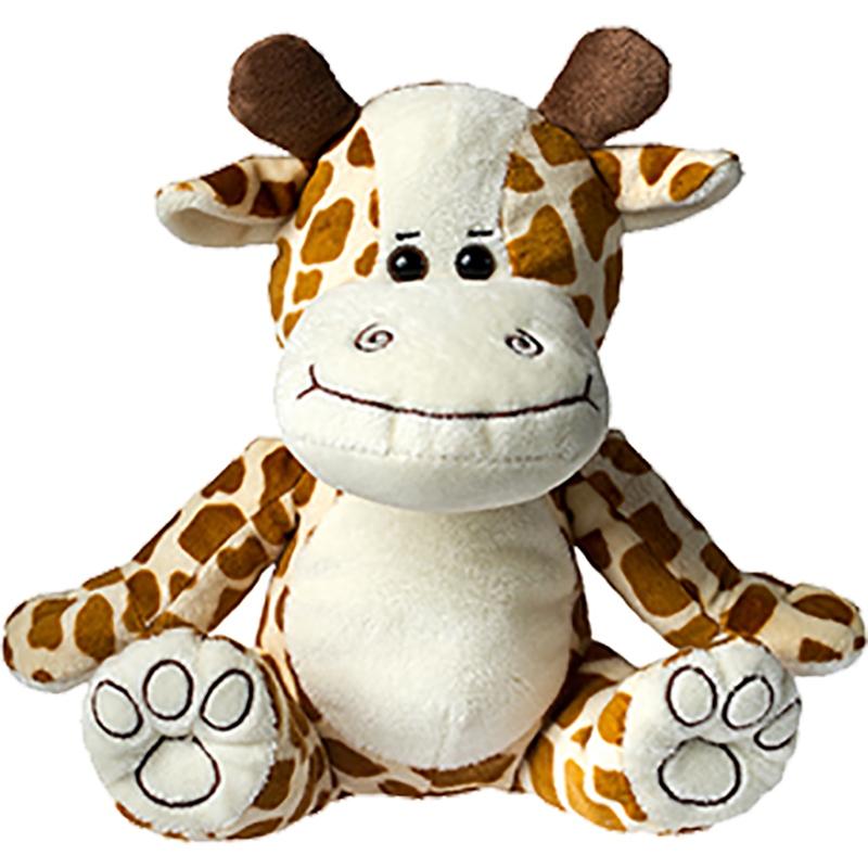 Peluche publicitaire girafe - cadeau d'entreprise