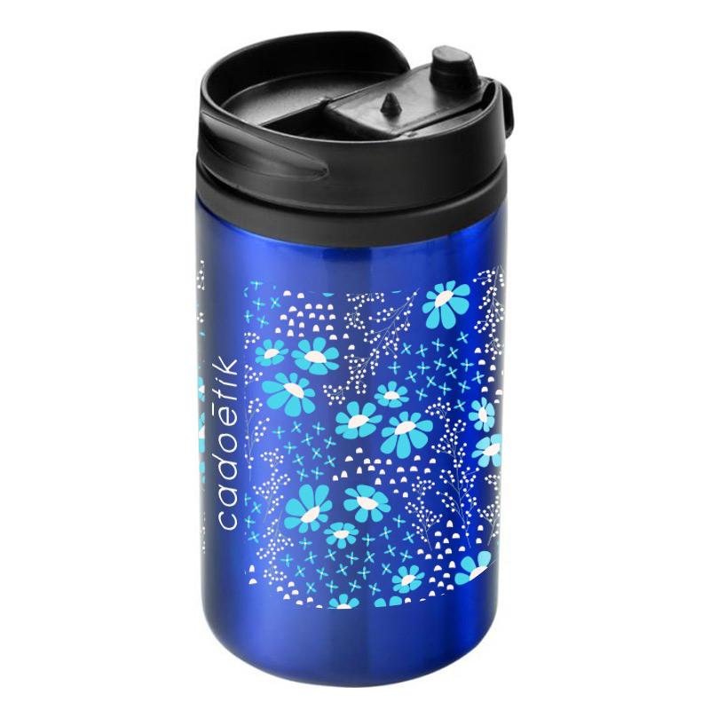 Mug isotherme publicitaire Mojave 300 mL - Coloris bleu