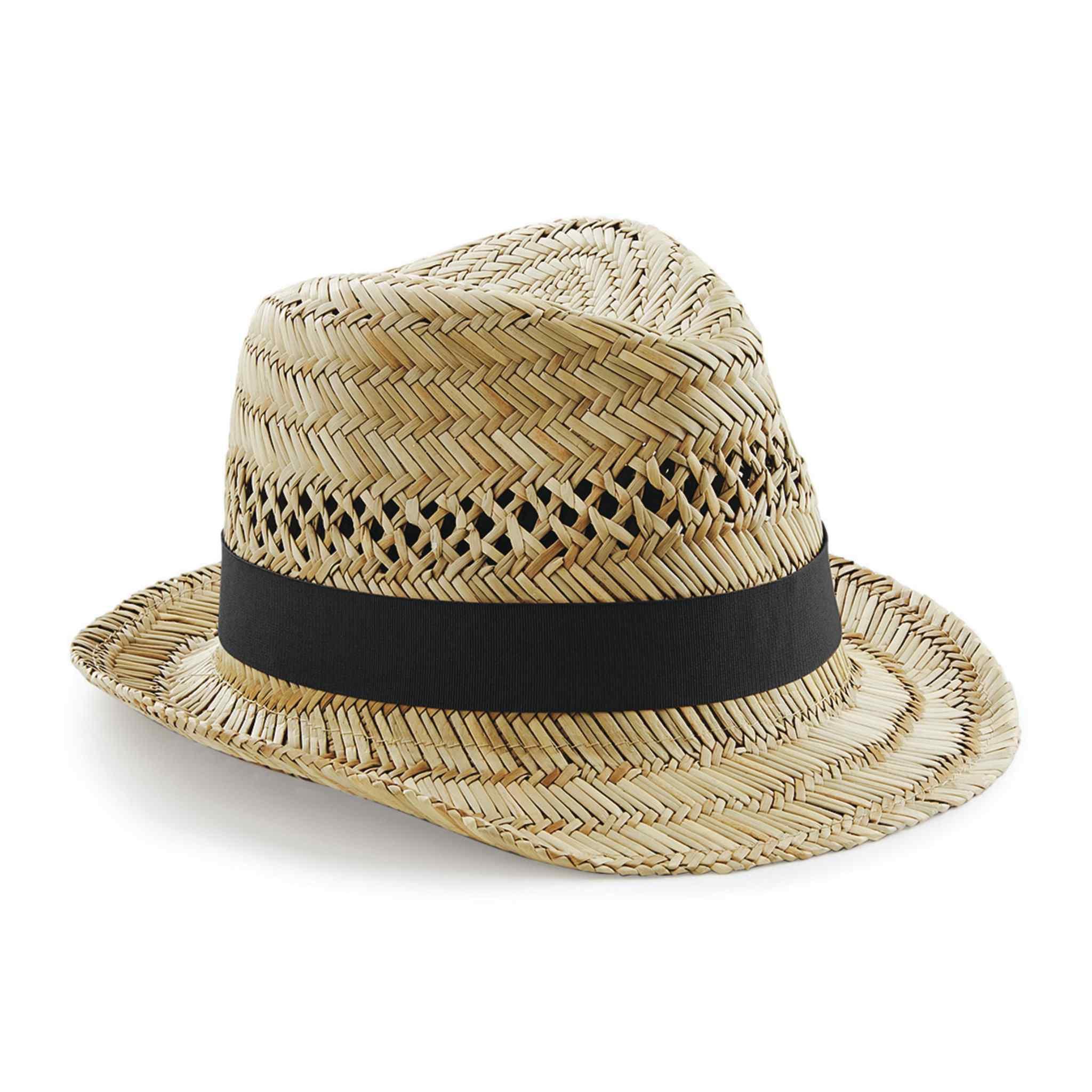 Chapeau promotionnel écologique en paille Trilbo - chapeau publicitaire