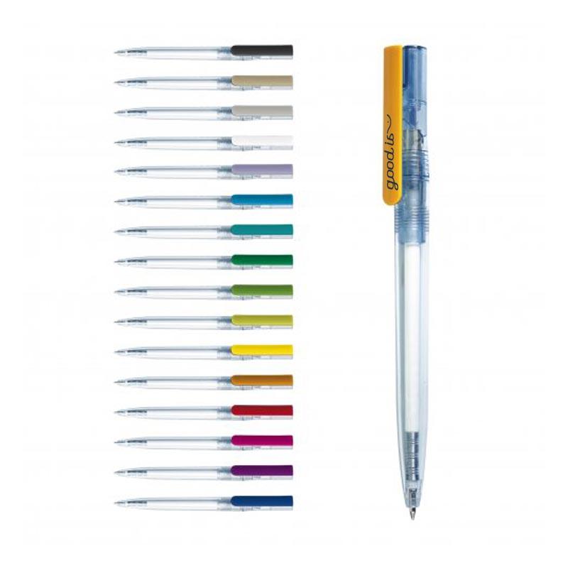 stylo publicitaire écologique bepen transparent et opaque
