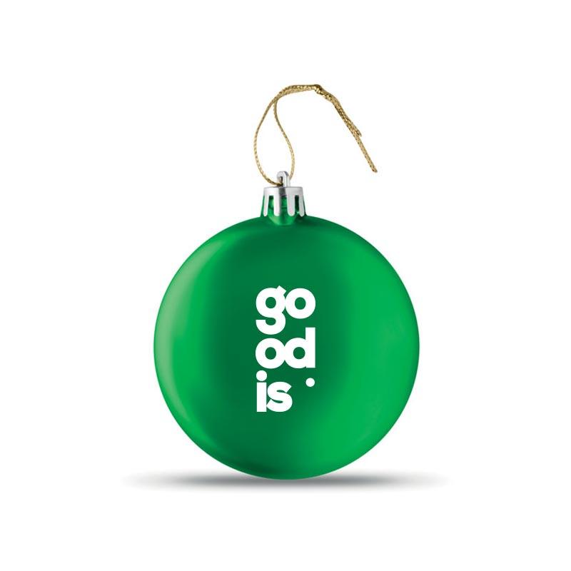 Boule de Noël plate Lia Ball verte