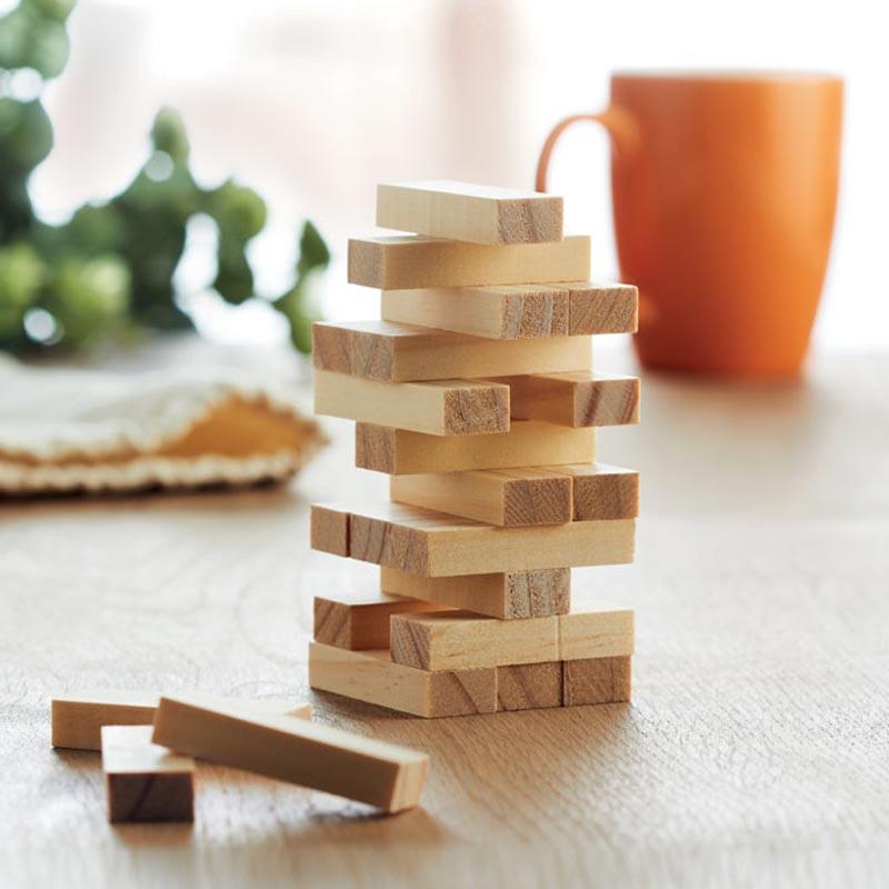 cadeau d'entreprise enfants - Jeu en bois de construction publicitaire  Pisa