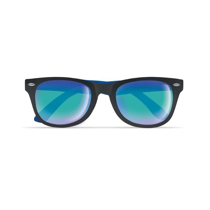 Lunettes de soleil publicitaires bicolores California - bleu royal