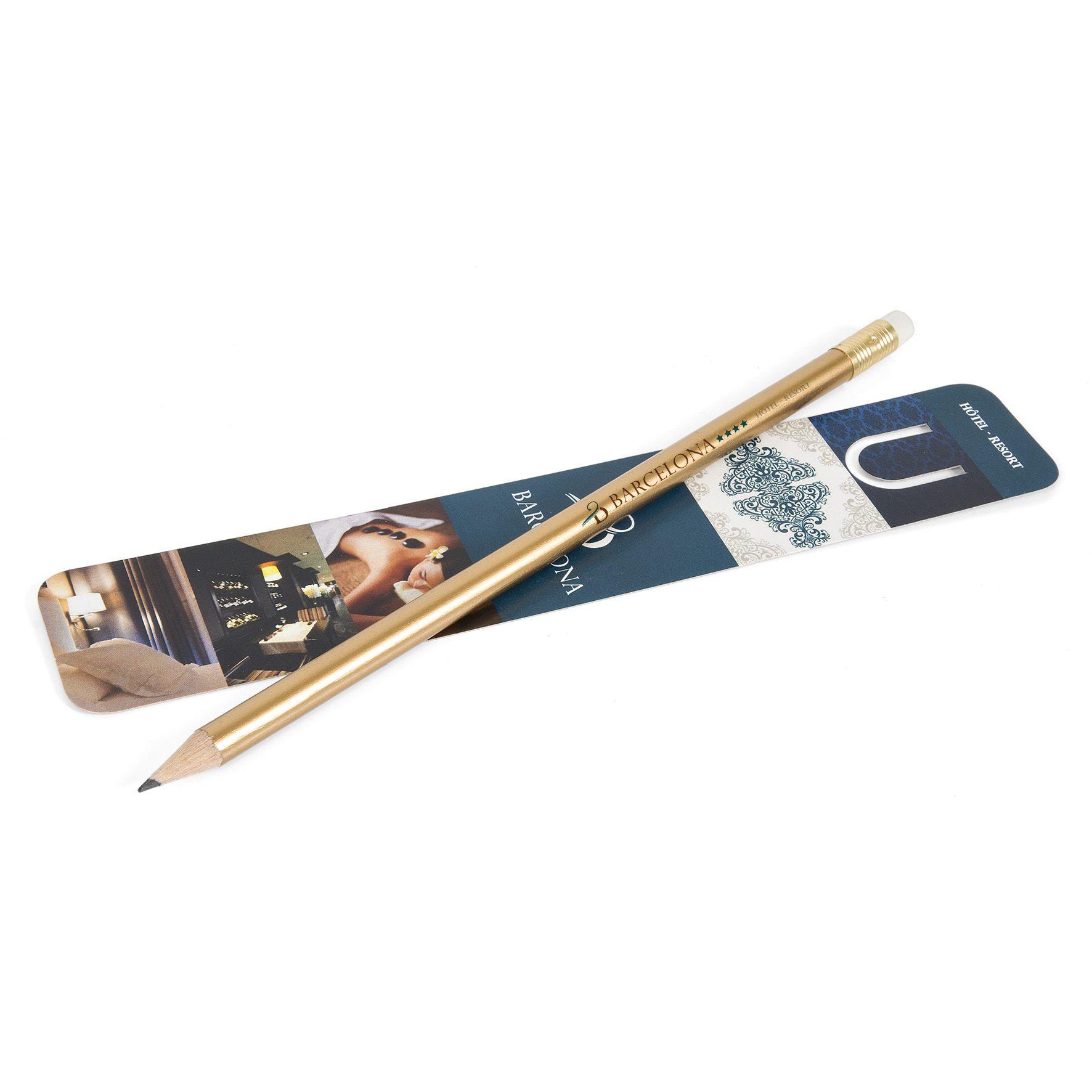 Kit de papeterie publicitaire écolo - crayon à papier pantone et marque-page quadri Panty