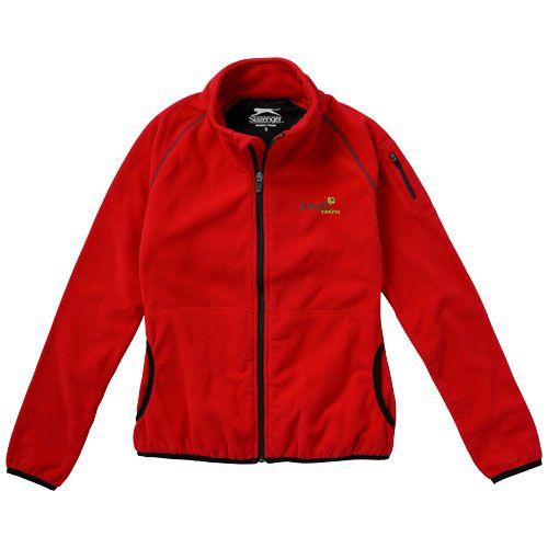 Veste publicitaire femme Drop  - veste polaire personnalisable rouge