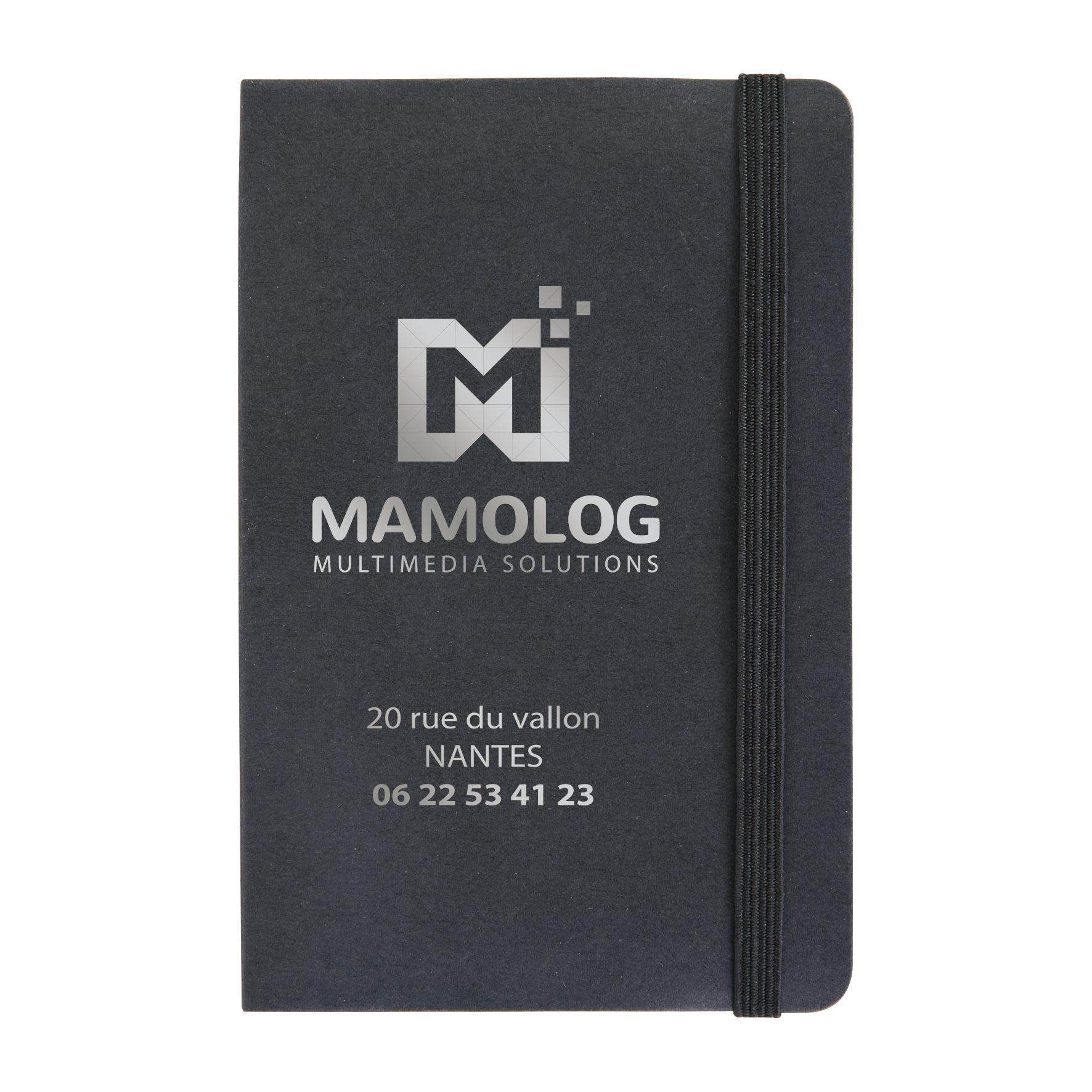 Bloc-notes mémo personnalisable - Porte-carte et adhésifs Buro - noir
