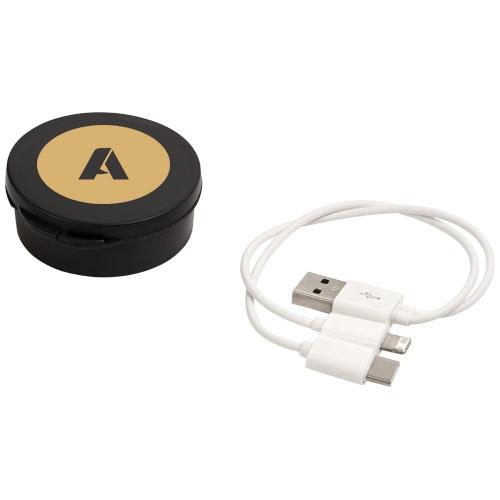objet publicitaire - Câble de recharge publicitaire 3-en-1 Versa