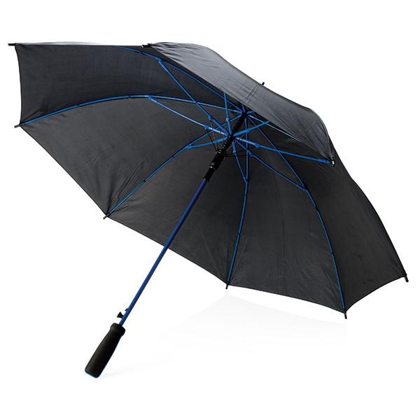 """Parapluie publicitaire 23"""" Athéos - noir/rouge"""