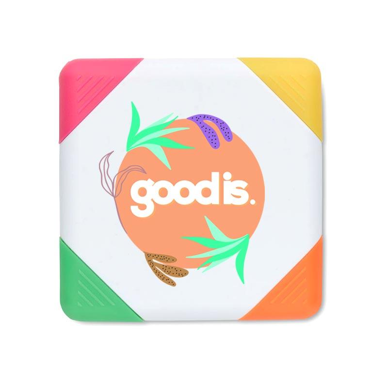 Surligneur personnalisable 4 couleurs Squarie