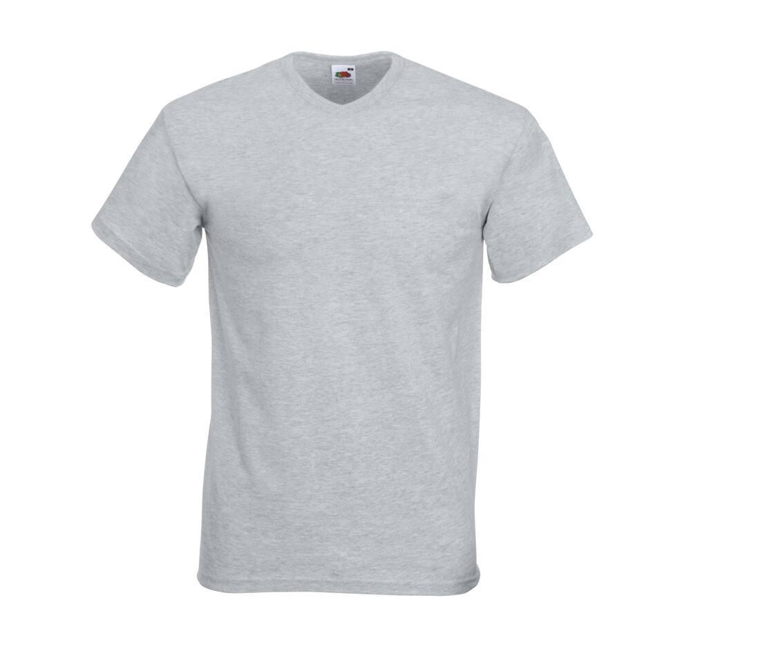 T-shirt publicitaire homme col V en coton Valueweight 1