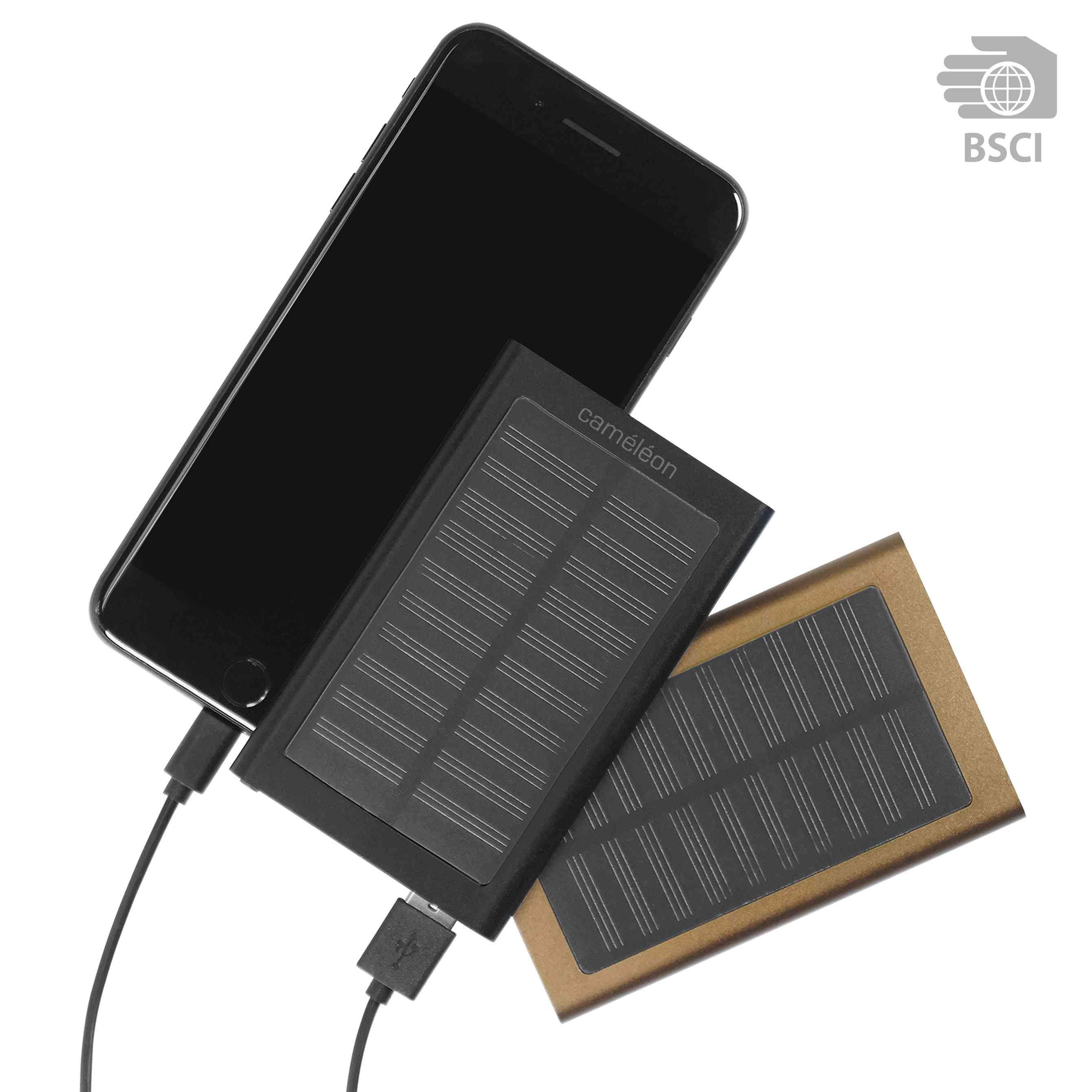 Chargeur solaire publicitaire Solalu - Chargeur smartphone publicitaire