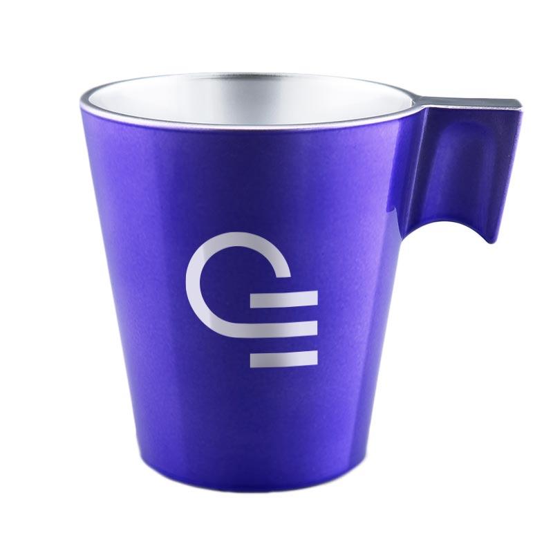 Mug publicitaire en verre Jumbo - Coloris violet