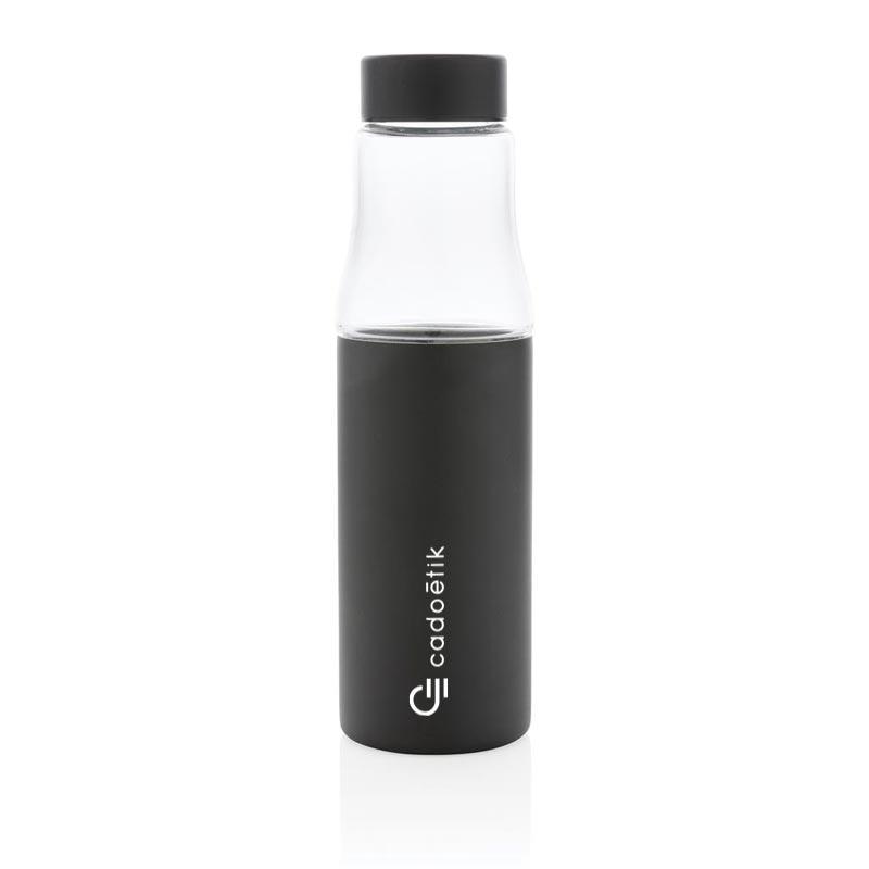 Bouteille isotherme en verre et inox Hybrid - Blanc