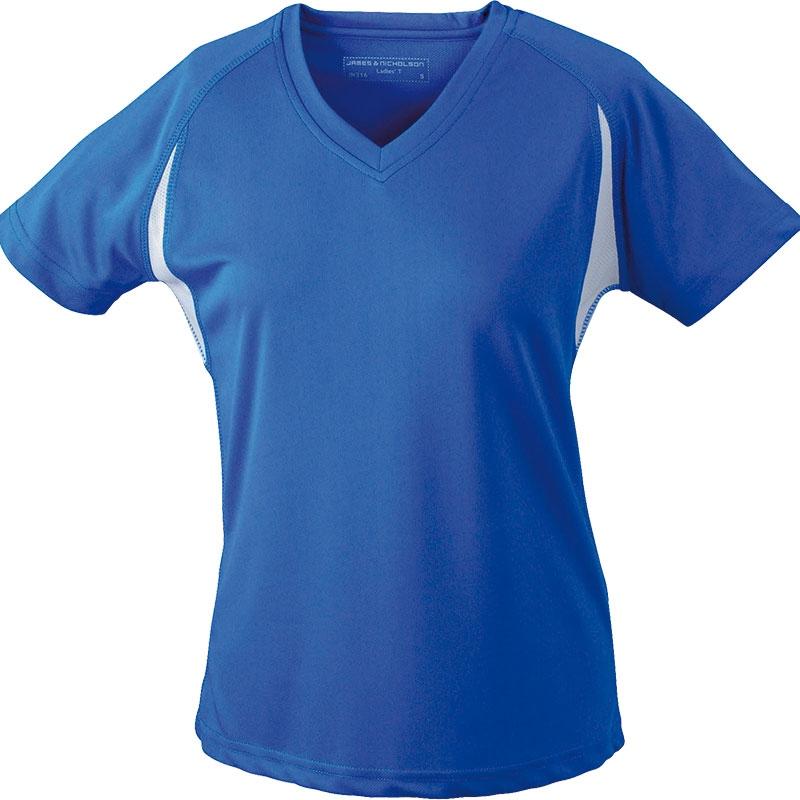 Tee-shirt running publicitaire Femme Lucie - bleu