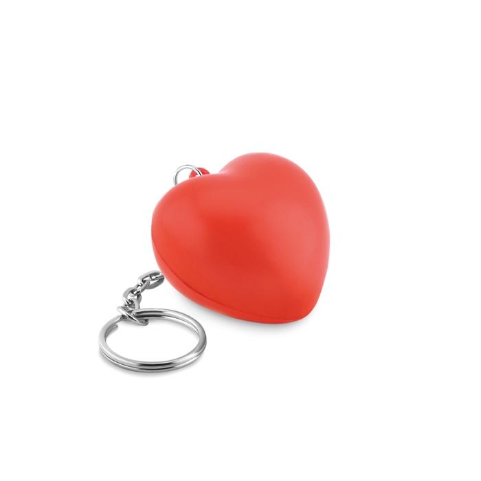 Porte-clés publicitaire coeur rouge Lovy Ring - goodies  personnalisé