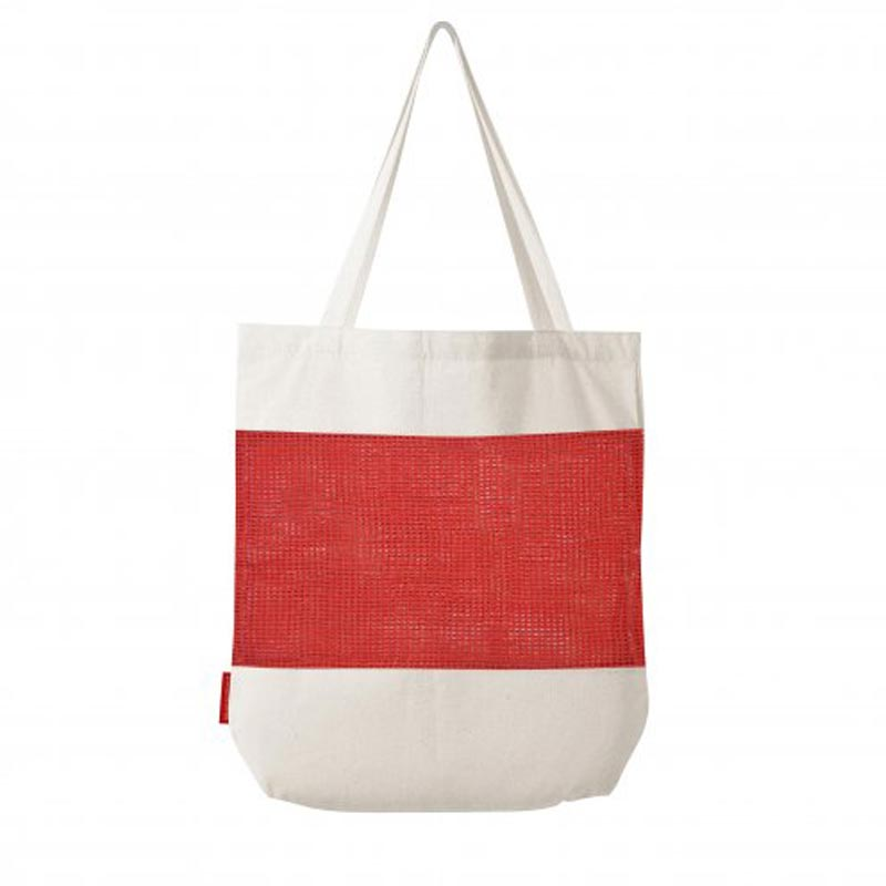 tote bag personnalisé en filet marcel - coloris rouge