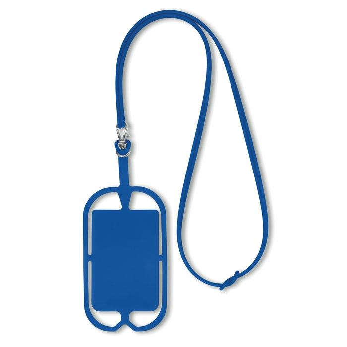 Tour du cou support publicitaire smartphone Silihanger  - bleu
