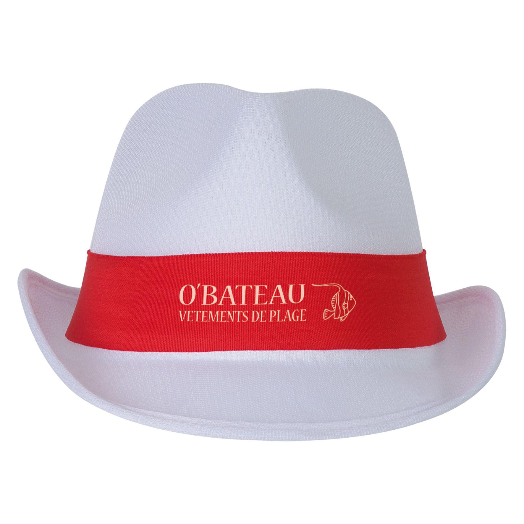 Cadeau d'entreprise - Chapeau publicitaire Panama Evènement - noir