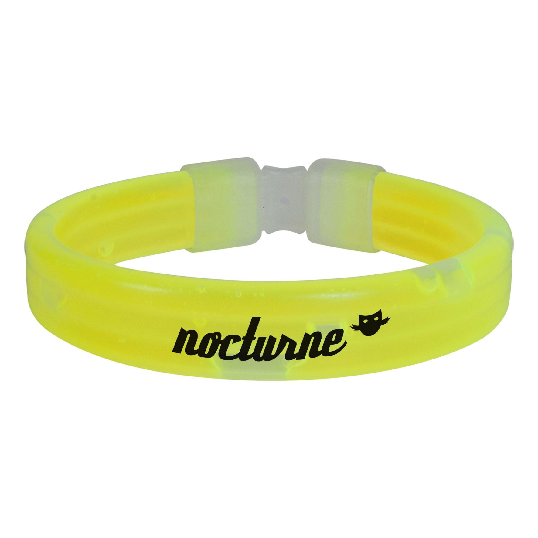 Goodies-Gadget - Bracelet lumineux publicitaire Eclat  - jaune
