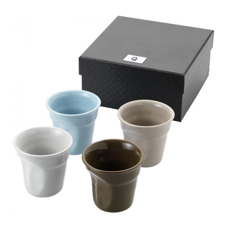 Cadeau publicitaire - Set 4 tasses en forme de gobelet