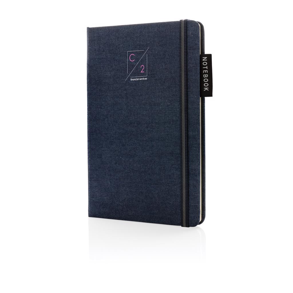 Carnet A5 personnalisé en Denim Blue  - Cadeau d'entreprise