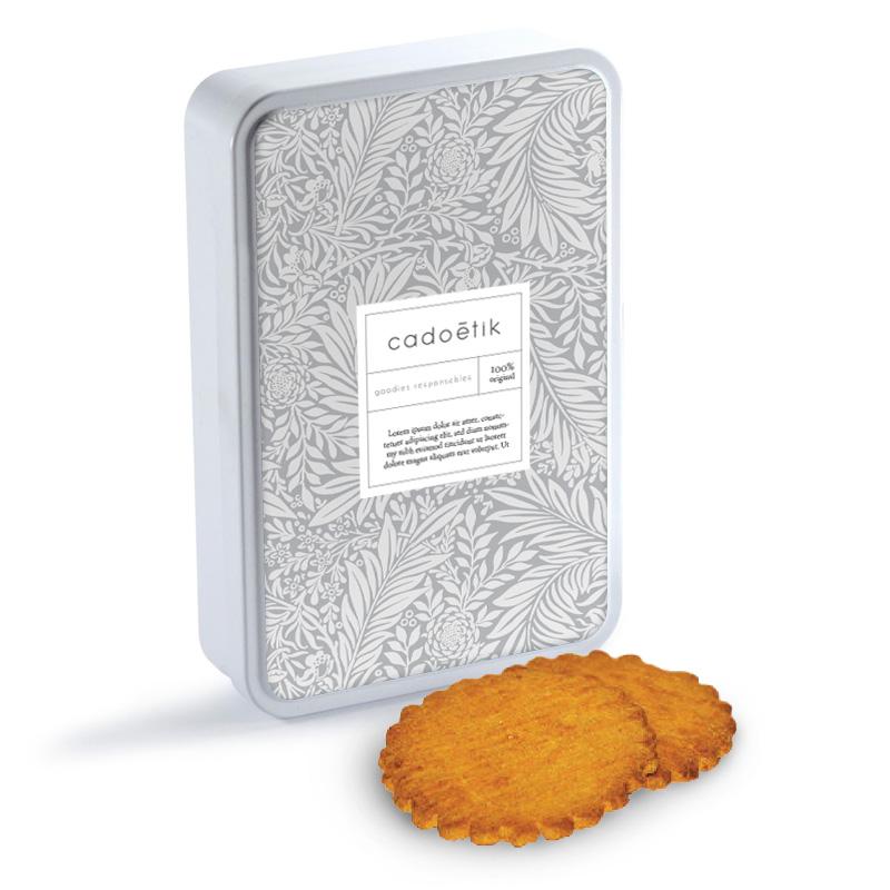 Boîte plate personnalisable de biscuits grands sablés motif