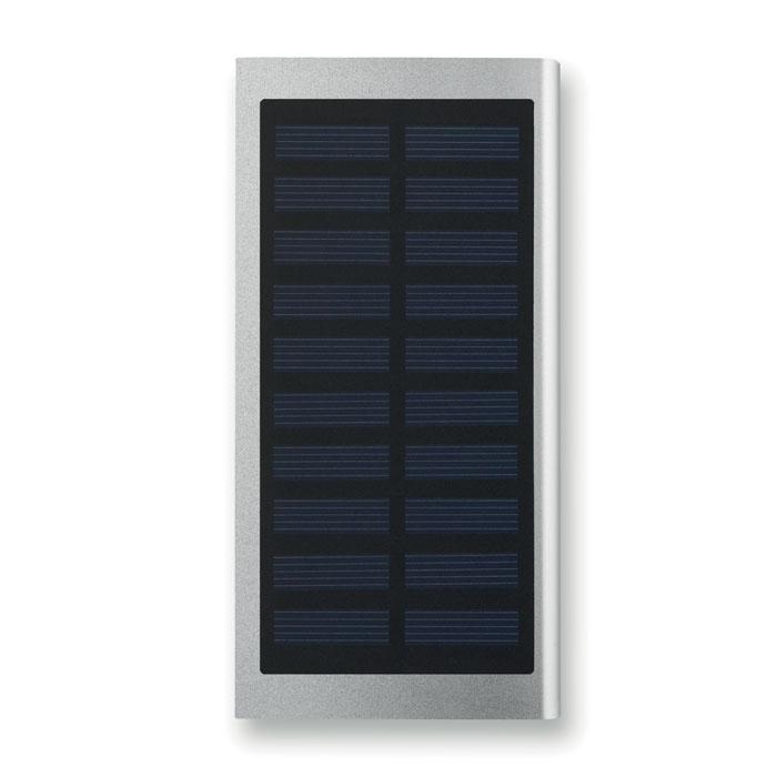 Powerbank solaire publicitaire Solar Powerflat - noir