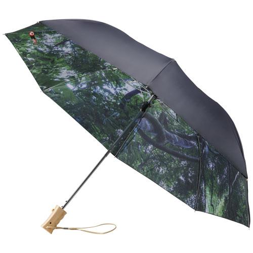 Parapluie publicitaire ouverture automatique pliable 21 pouces Forest skies