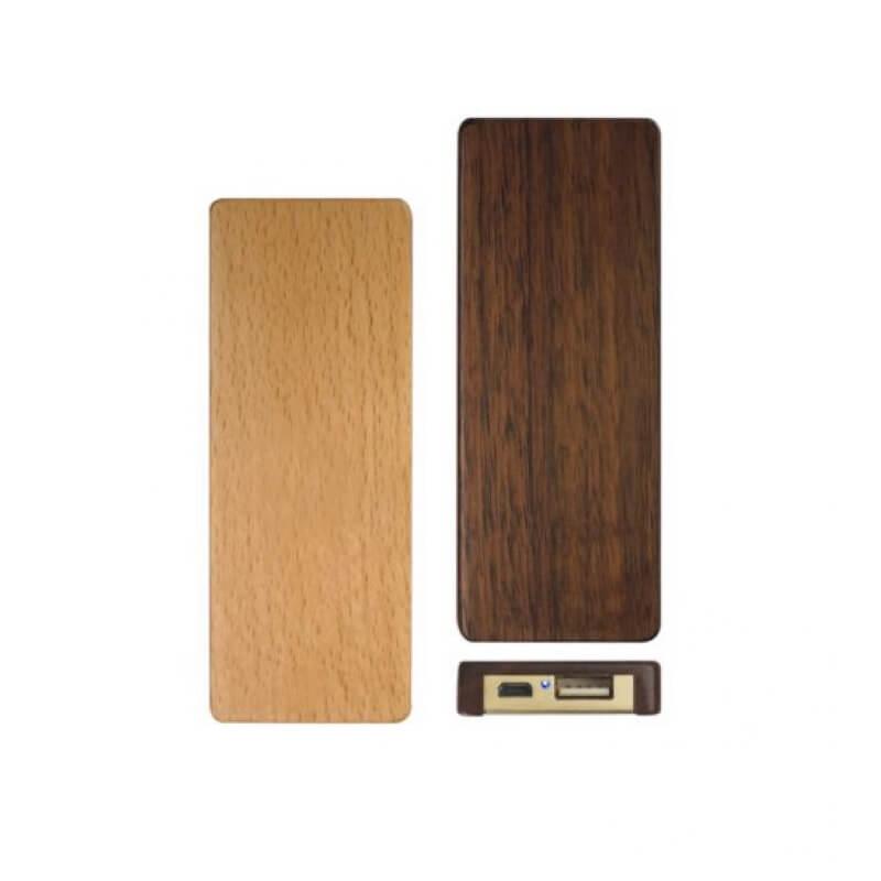cadeau publicitaire écologique - Chargeur nomade Wooding