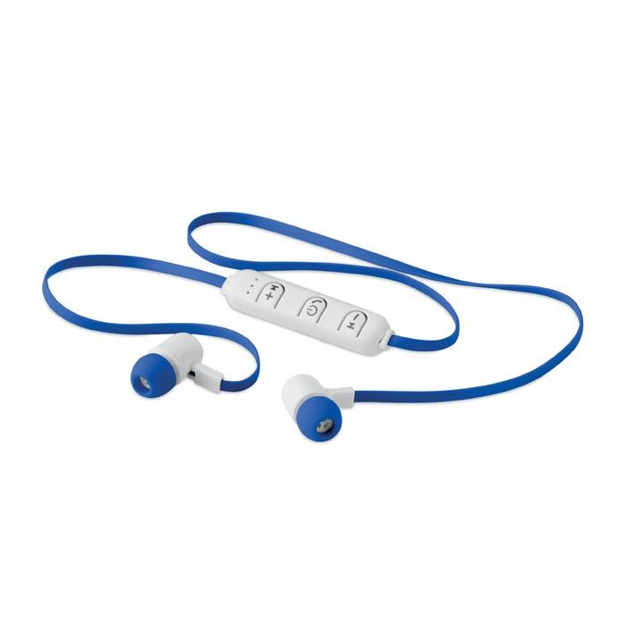 cadeau publicitaire - écouteurs bluetooth publicitaires avec tour du cou et microphone Jazz