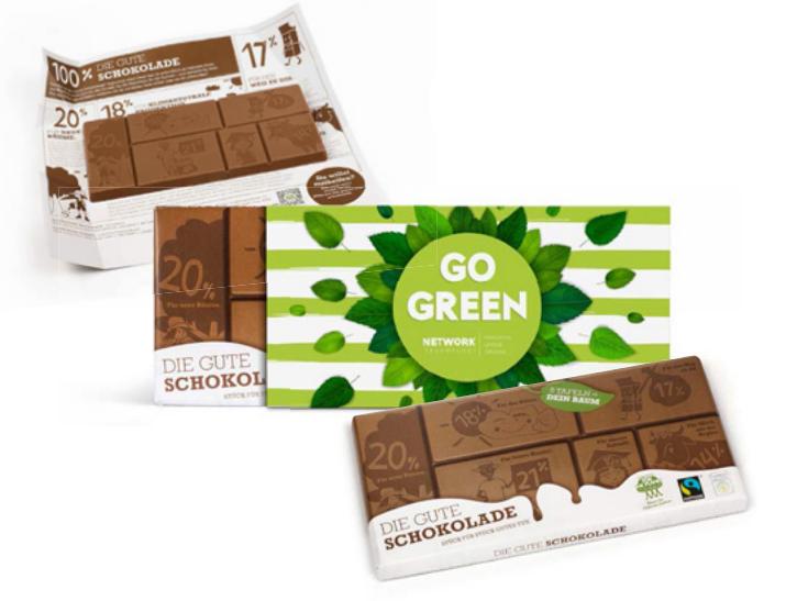 Le chocolat du changement - Chocolat publicitaire