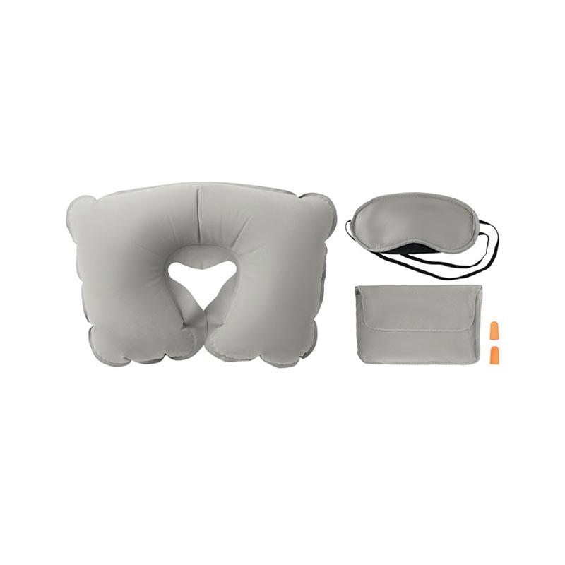 Set oreiller, masque, bouchons - Cadeau publicitaire