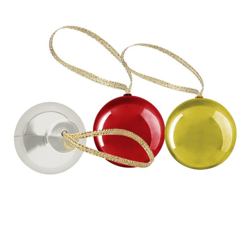 Baumes à lèvres publicitaires en boules de Noël