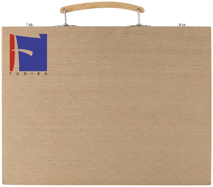 Boîte de crayons de couleur publicitaires Whiz avec feutres et peinture - coffret en bois