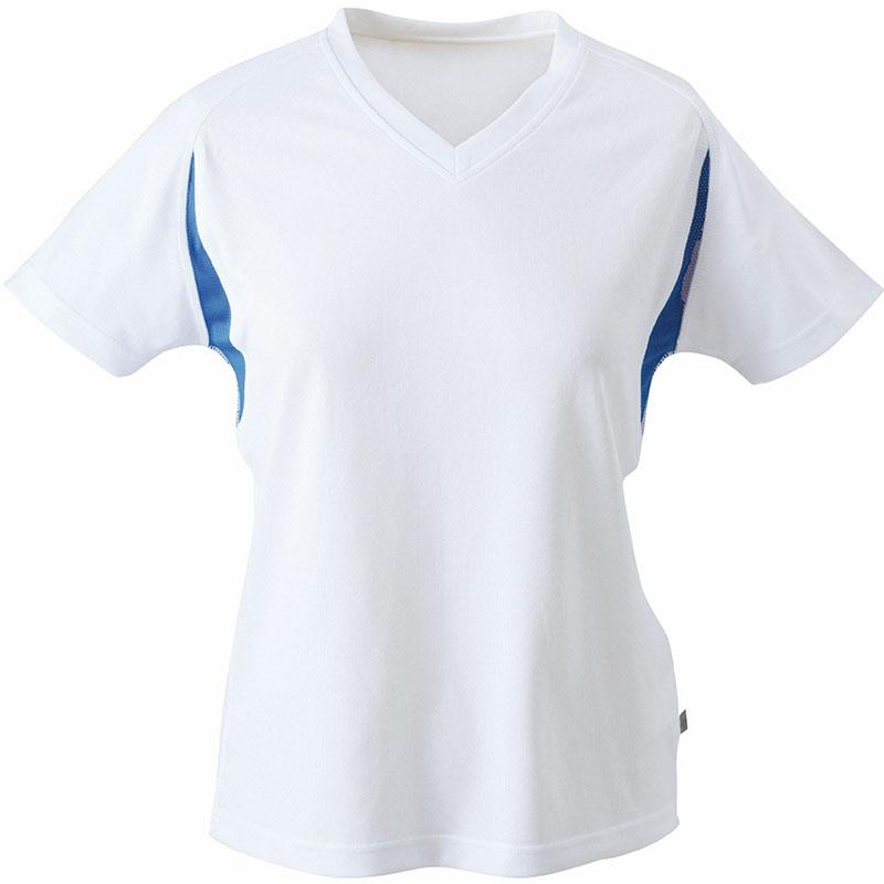 Tee-shirt running publicitaire Femme Lucie - blanc