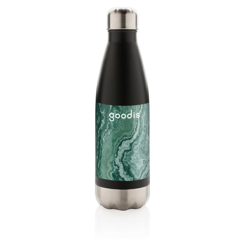 bouteille isotherme personnalisée en inox drinox - coloris noir