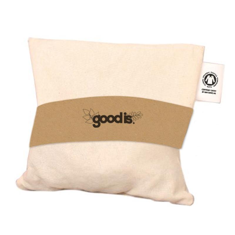 Coussin de cerise publicitaire en coton bio 1 compartiment - Marquage logo